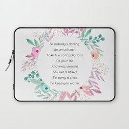 Be nobody's darling - A. Walker Collection Laptop Sleeve