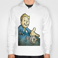 fallout Hoodies featuring fallout character by stavastator