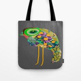 little green eyed boho bird Tote Bag