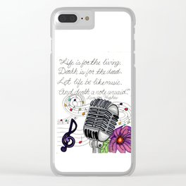 Making Music Clear iPhone Case
