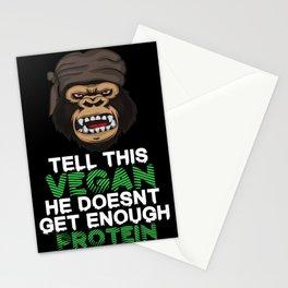 Tell This Vegan VEGANS herbivore vegetarian gorilla monkey chimpanzee diet Stationery Cards
