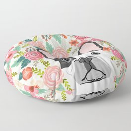 French Bulldog  floral dog head cute frenchies must have pure breed dog gifts Floor Pillow