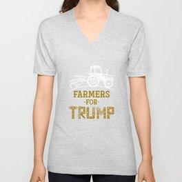 Farmers For Trump Unisex V-Neck