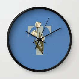 T for Tulip Wall Clock