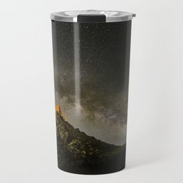 Milky way over the old observatory. Sierra Nevada Travel Mug