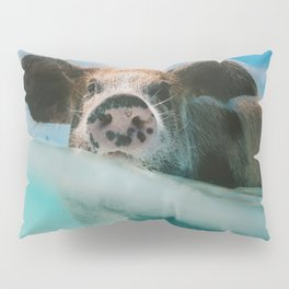 Pig in water Pillow Sham