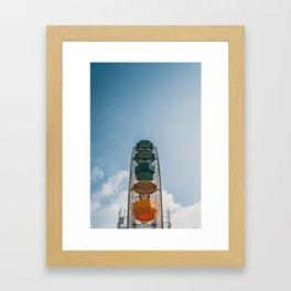 Ferry Wheel at the top of Tibidabo Framed Art Print