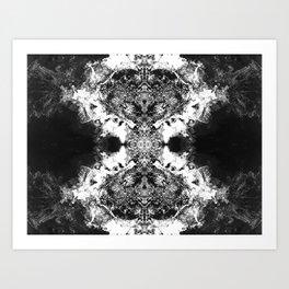 Black Gatria- Abstract Costellation Painting. Art Print