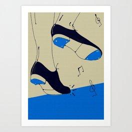tap dancing  Art Print