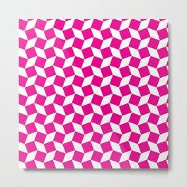 Pink Op Art Pattern Metal Print