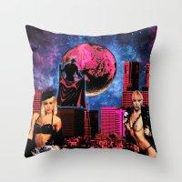 satan Throw Pillows featuring Satan by Marina Poison