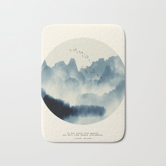 Beauty of Silence Bath Mat