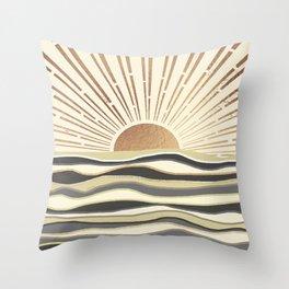 Sun Breeze-Magnolia shade Throw Pillow