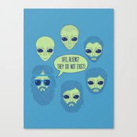 aliens Canvas Prints featuring aliens by gotoup