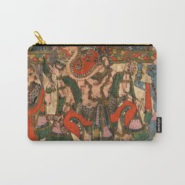 Hindu Krishna Ganesh Tapestry Carry-All Pouch