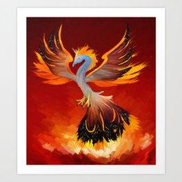 Cosmic Phoenix - Fire Burst Art Print