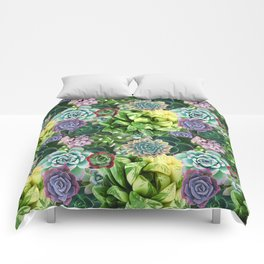 Leaf & Clay Succulent Pattern Comforters