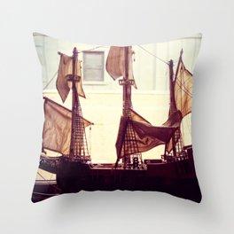 Clipper ship Throw Pillow