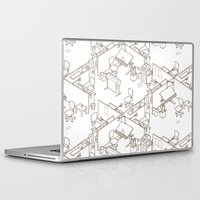 the office Laptop & iPad Skins featuring office by anil yanik