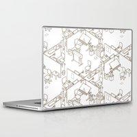 office Laptop & iPad Skins featuring office by anil yanik