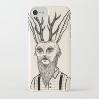 jackalope iPhone & iPod Cases featuring Jackalope by Jon MacNair