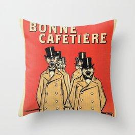 Chicorée Bonne Cafetière Throw Pillow