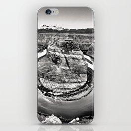 Horseshoe Bend Arizona Black and White iPhone Skin