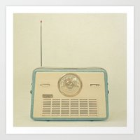 radio Art Prints featuring Radio Days by Cassia Beck