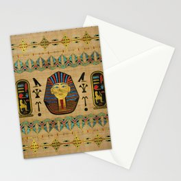 Egyptian Sphinx Ornament on papyrus Stationery Cards