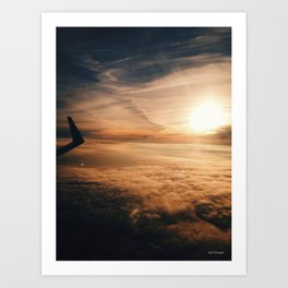 from the plane window Art Print