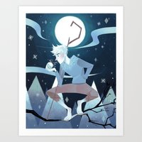 jack frost Art Prints featuring Jack Frost by Nadiezda