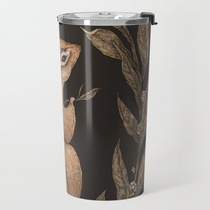 The Chipmunk and Bay Laurel Travel Mug