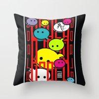 comic Throw Pillows featuring COMIC  by _Moj_