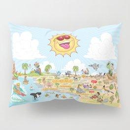 Southern California Beach Paradise Pillow Sham