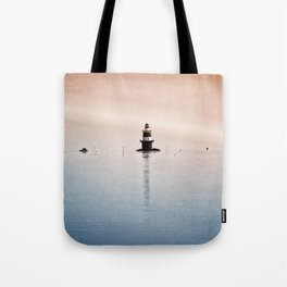 Fishing Near The Lighthouse Tote Bag