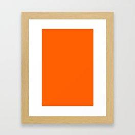 Solid Orange Framed Art Print