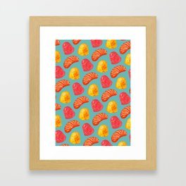 Candy Pattern Framed Art Print