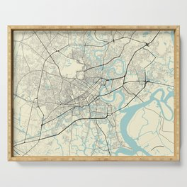 Ho Chi Minh Vietnam City Map Serving Tray