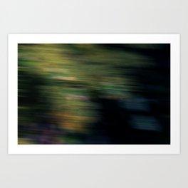 blurry tree Art Print