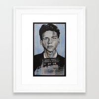 frank sinatra Framed Art Prints featuring Frank Sinatra by Bianca Burrows