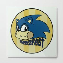 Way 2 fast Metal Print