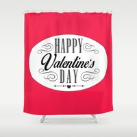 valentines Shower Curtains featuring Valentines Day  by Ashley Hillman