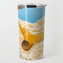 Natural Rock Formations In Lagos, Algarve Portugal, Travel Photo, Large Printable Photography Travel Mug