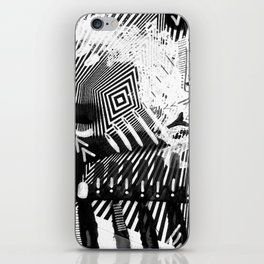 GRAY AND BLACK iPhone Skin