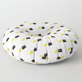 Japanese riceball onigiri with pickles Floor Pillow