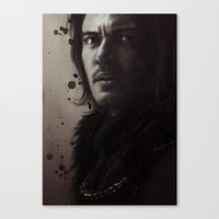 dracula Canvas Prints featuring Dracula by LindaMarieAnson