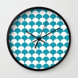 Fan Pattern 321 Turquoise Wall Clock