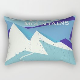 Ural Mountains Russia Rectangular Pillow