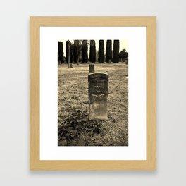 The Forgotten Graves Framed Art Print