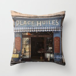 Photography Place aux Huiles Throw Pillow